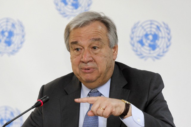 Antonio Guterres... (Photo Khalil Senosi, archives Associated Press)