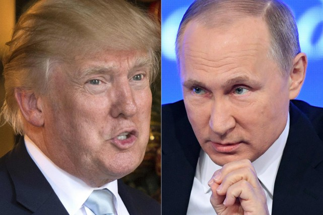Donald Trump et Vladimir Poutine... (Photos archives Agence France-Presse)