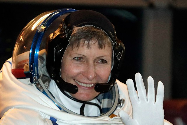 L'astronaute américaine Peggy Whitson.... (Dmitri Lovetsky, archives AP)
