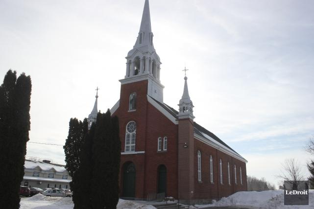 L'église de la paroisse St-Joachim de Chute-à-Blondeau.... (Martin Brunette, Le Droit)