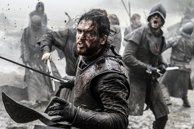 L'acteur Kit Harington dans la série Game of... (AP)