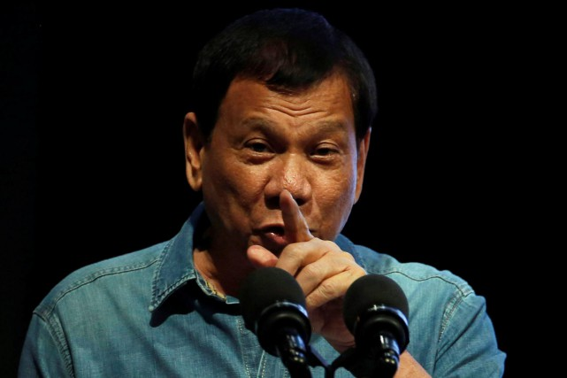Le président philippin Rodrigo Duterte... (PHOTO Erik De Castro, ARCHIVES REUTERS)