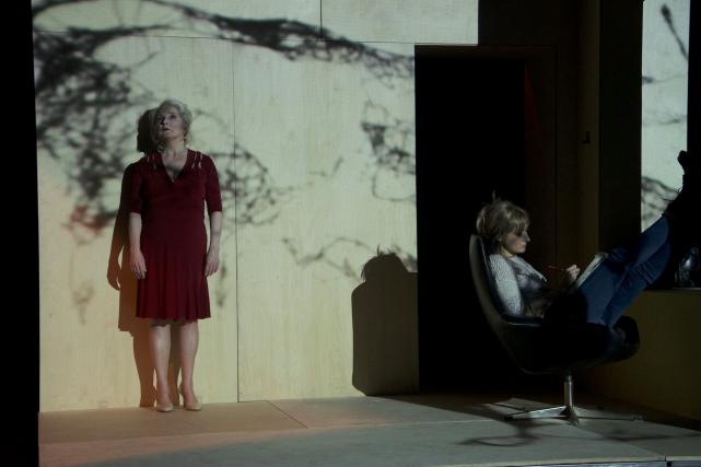 La pièce se déroule sur une structure scénographique... (Photo Slim Dakhlaoui)