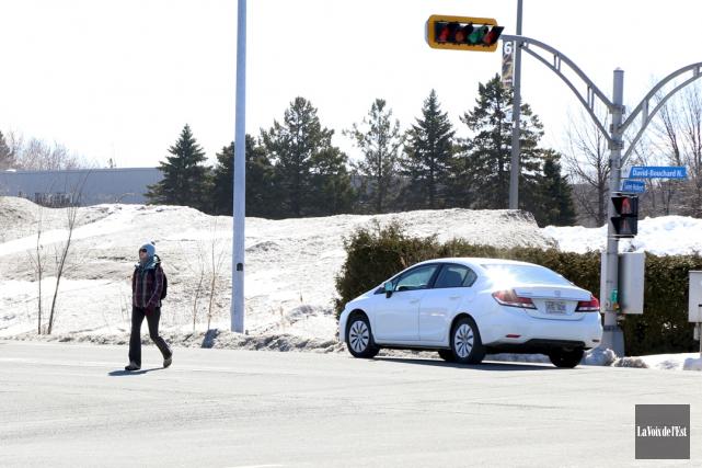 Le passage des piétons sera sécurisé à l'intersection... (Janick Marois, La Voix de l'Est)