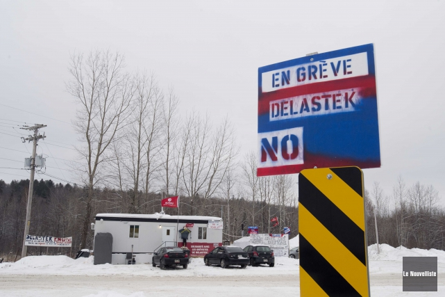 Les employés de Delastek sont en grève depuis... (Sylvain Mayer, Le Nouvelliste)