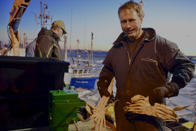 Le capitaine Bertrand Desbois jubilait devant l'abondance de... (Collaboration spéciale Johanne Fournier)