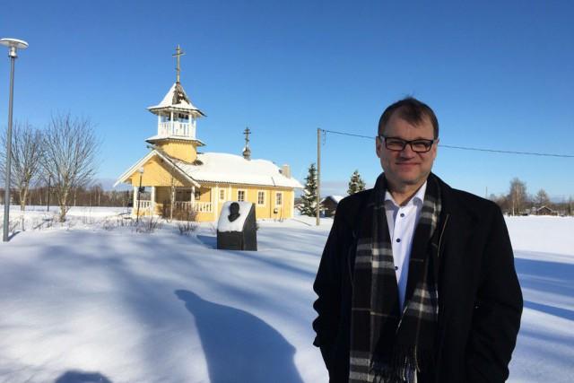 Le premier ministre finlandais Juha Sipilä... (Twitter)