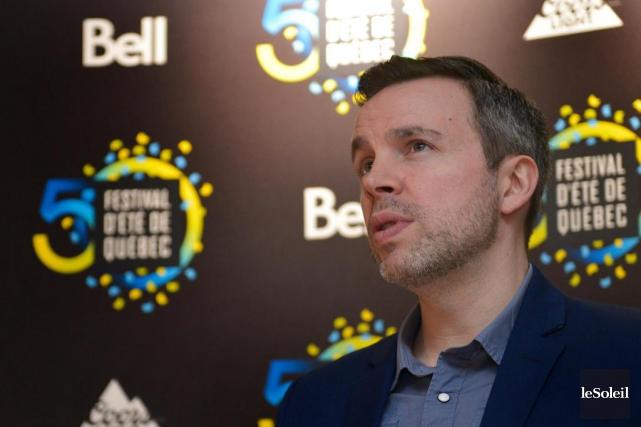 Louis Bellavance, directeur de la programmation duFestival d'été... (Photo Yan Doublet, Le Soleil)