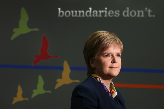 La première ministre écossaise Nicola Sturgeon, à Glasgow,... (AFP)