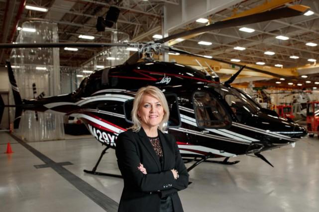 Cynthia Garneau, présidente de Bell Helicopter Textron Canada.Elle... (Photo Hugo-Sébastien Aubert, La Presse)