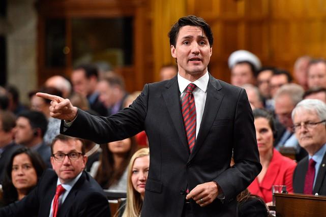 Le premier ministre du Canada, Justin Trudeau... (Photo Sean Kilpatrick, archives La Presse canadienne)