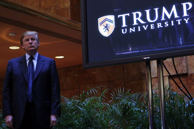 Donald Trump a annoncé la création de l'Université... (PHOTO ARCHIVES AFP/GETTY IMAGES)
