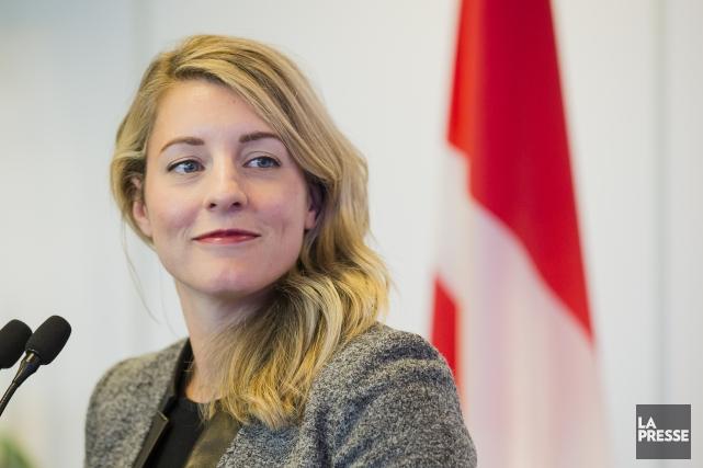 La ministre du Patrimoine canadien, Mélanie Joly.... (Photo Edouard Plante-Fréchette, La Presse)