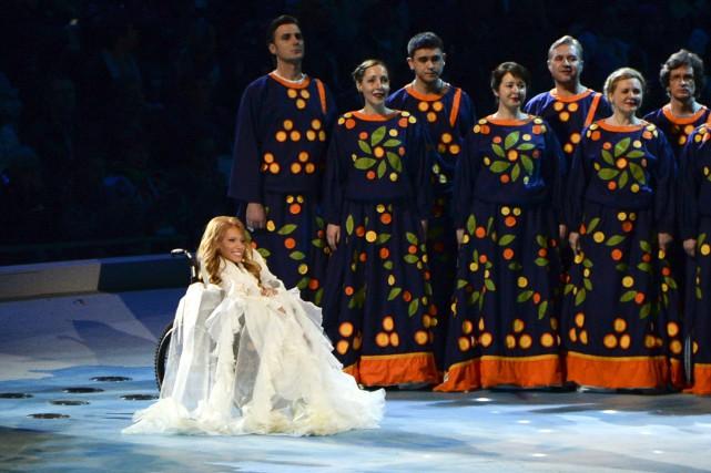 IouliaSamoylova était de la cérémonie d'ouverture des Jeux... (Photo Ekaterina Lyzlova, AP)