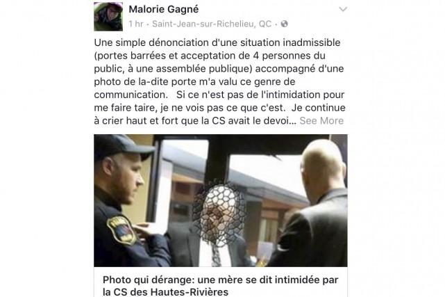 «Par acquit de conscience», Malorie Gagné a remplacé... (Capture d'écran)