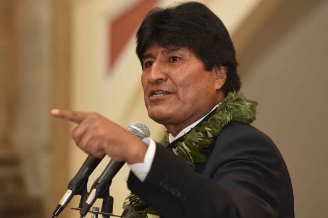 Le président bolivien, Evo Morales... (Photo Enzo De Luca, gouvernement bolivien)