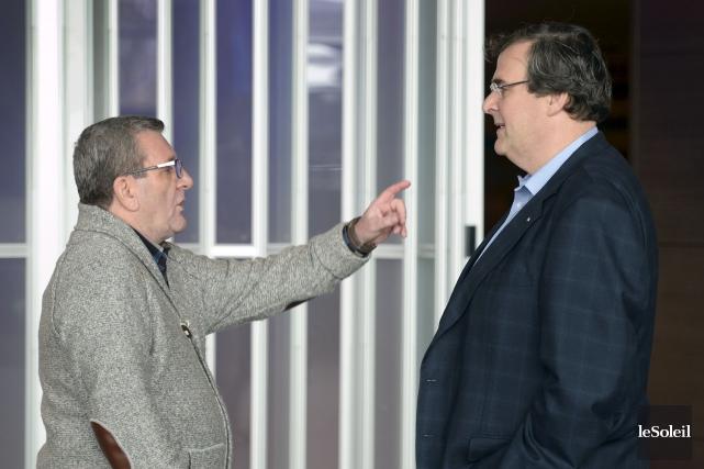 Le maire de Québec, Régis Labeaume, a joint... (Le Soleil, Jean-Marie Villeneuve)