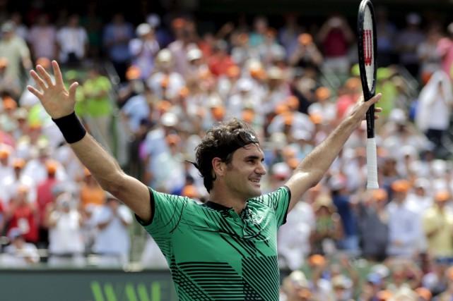 À 35 ans, le Suisse Roger Federer aajouté... (AP, Lynne Sladky)