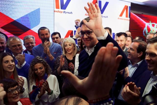 Aleksandar Vucic jug e«ridicules» les accusations d'autoritarisme portées... (PHOTO REUTERS)