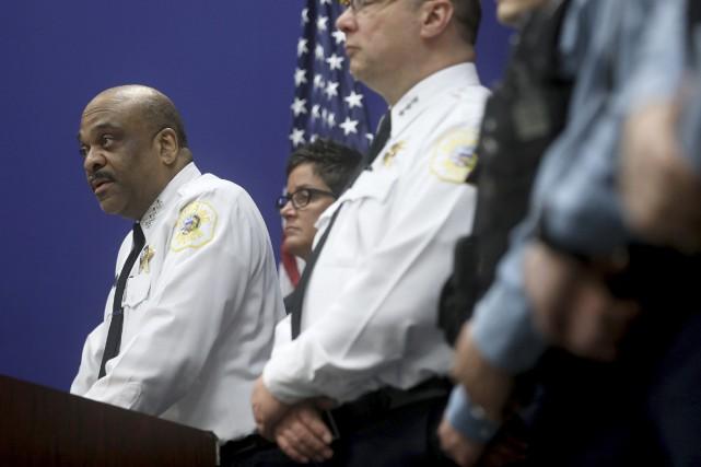 Lors d'une conférence de presse, la police a... (PHOTO AP)