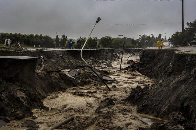 L'une des villes les plus touchées est Comodoro... (PHOTO AFP)