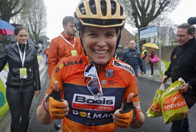 La cycliste gatinoise Karol-Ann Canuel a signé une... (Boels-Dolmans, photo tirée de Twitter)