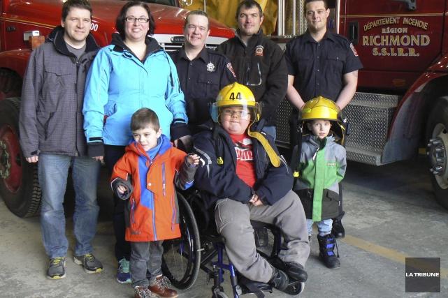 Des pompiers de Richmond participeront au défi Gratte-Ciel... (La Tribune, Julie Lupien)