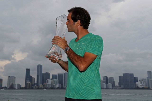 Roger Federer a remporté le tournoi de Miami,... (Photo Geoff Burke, USA Today Sports)