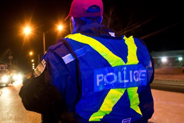 Les agents de la Régie de police de Memphrémagog (RPM) ont fait face à de la... (Archives La Tribune, Jessica Garneau)