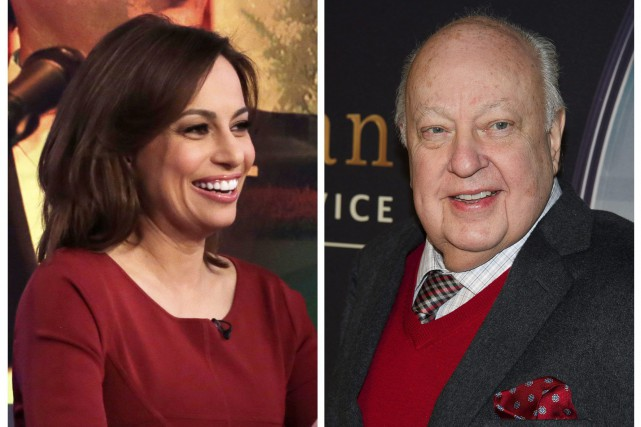 Julie Roginsky et Roger Ailes... (Photos archives Associated Press)