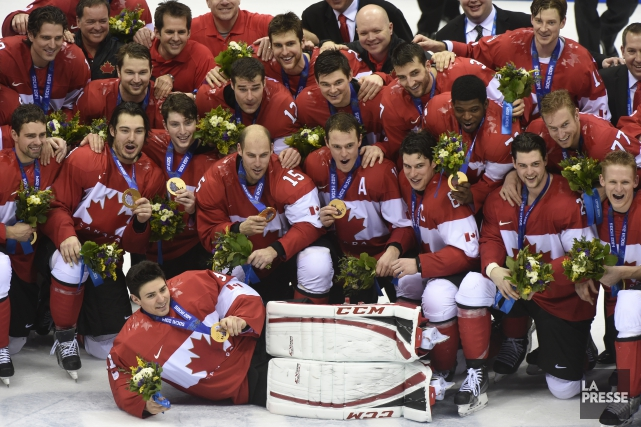 Le Canada avait remporté l'or au hockey aux... (PHOTO BERNARD BRAULT, ARCHIVES LA PRESSE)