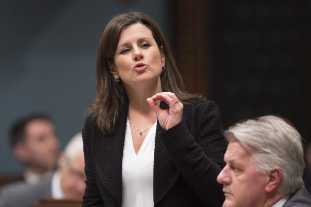 La ministre de la Justice, Stéphanie Vallée.... (Photo Jacques Boissinot, archives PC)
