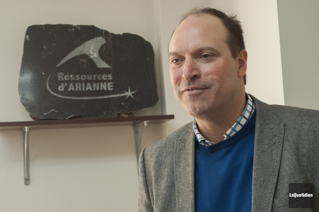 Le chef des opérations d'Arianne Phosphate, Jean-Sébastien David.... (Archives Le Quotidien, Michel Tremblay)