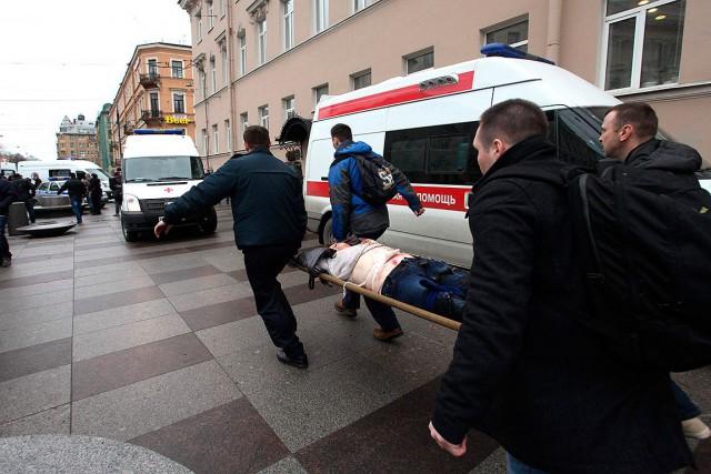 L'explosion dans une station en plein centre-ville de... (AFP, Alexander Tarasenkov)