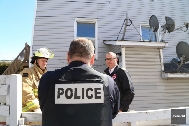 Les policiers de Granby ont d'abord pris en... (Alain Dion, La Voix de l'Est)