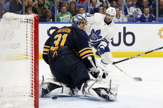 Auston Matthews a inscrit son 39e filet de la campagne pour établir une... (PHOTO REUTERS)