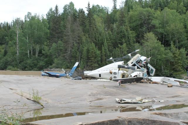 L'écrasement d'un Bell 206B a fait deux morts... (fournie par le BST)