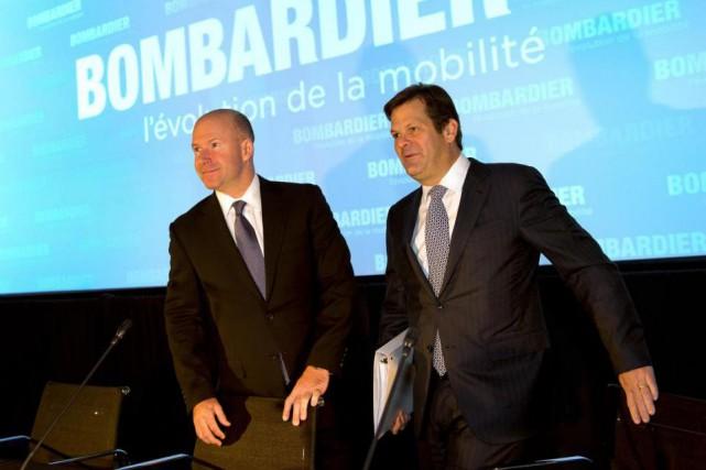 Le pdg de Bombardier Alain Bellemare et le... (La Presse Canadienne, Ryan Remiorz)