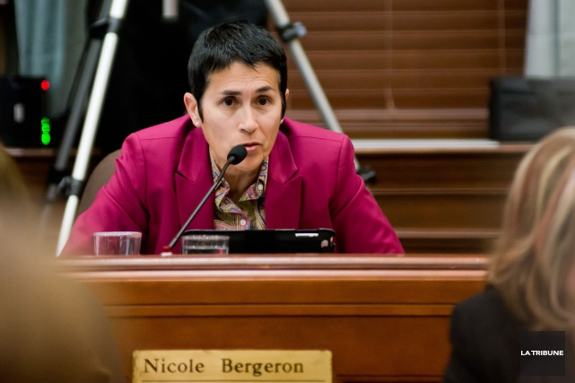 Nicole Bergeron... (Archives La Tribune, Jessica Garneau)