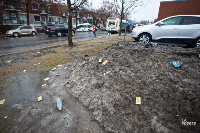 Pour déterminer comment la neige capte les émissions... (Photo André Pichette, La Presse)