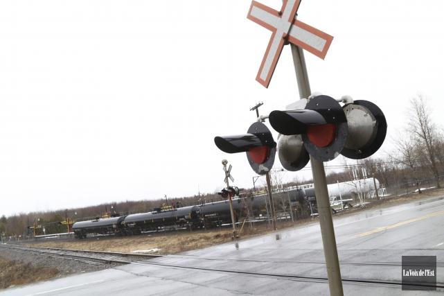 La relocalisation des infrastructures du terminal ferroviaire de... (Janick Marois, La Voix de l'Est)