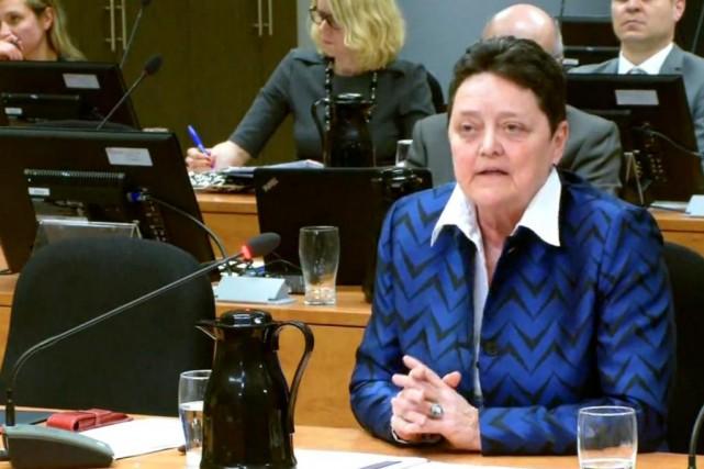 Me Danielle Côté, juge en chef adjointe à... (Image tirée d'une vidéo de la Commission Chamberland)