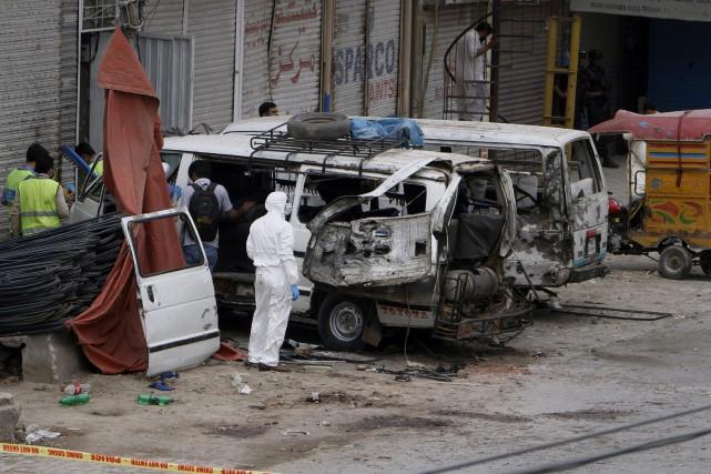 L'explosion s'est produite vers 8h00 du matin (heure... (AP)