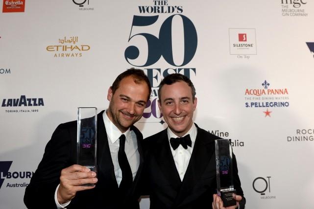 Daniel Humm et Will Guidara... (Photo Mal Fairclough, Agence France-Presse)