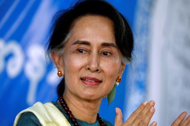 Aung San Suu Kyi, arrivée au pouvoir il... (Photo Soe Zeya Tun, archives REUTERS)
