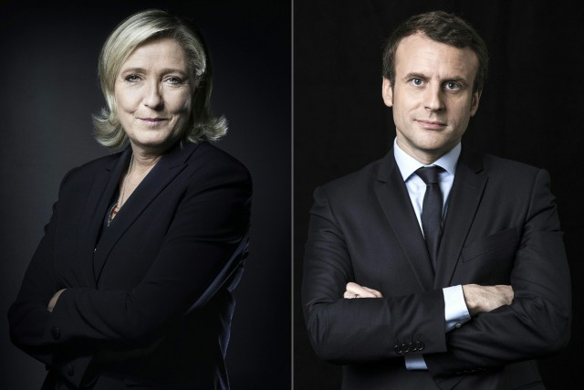 Marine Le Pen et Emmanuel Macron.... (PHOTO AFP)