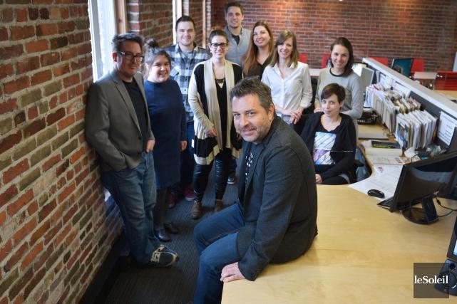 Steve Girard s'entoure de collaborateurs jeunes et créatifs.... (Le Soleil, Yan Doublet)