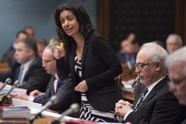 La ministre de l'Économie, Dominique Anglade, a justifié... (La Presse canadienne, Jacques Boissinot)