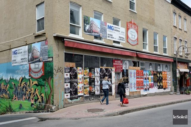 L'immeuble de l'ancienne boucherie W.E. Bégin est abandonné... (Photothèque Le Soleil, Erick Labbé)
