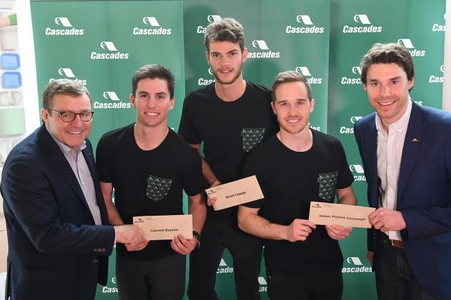 Laurent Dumais, Alexis Lepage et Simon Pouliot-Cavanagh reçoivent...
